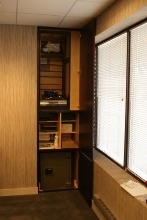Hidden Wall To Wall Cabinets | Security Safe And Cabinet Concealed By Secret  Wall Panel Doors