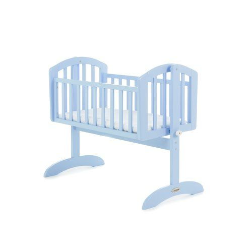 Blue Baby Crib Infant Toddler Bed Cot Nursery Furniture Mattress Cradle Safety