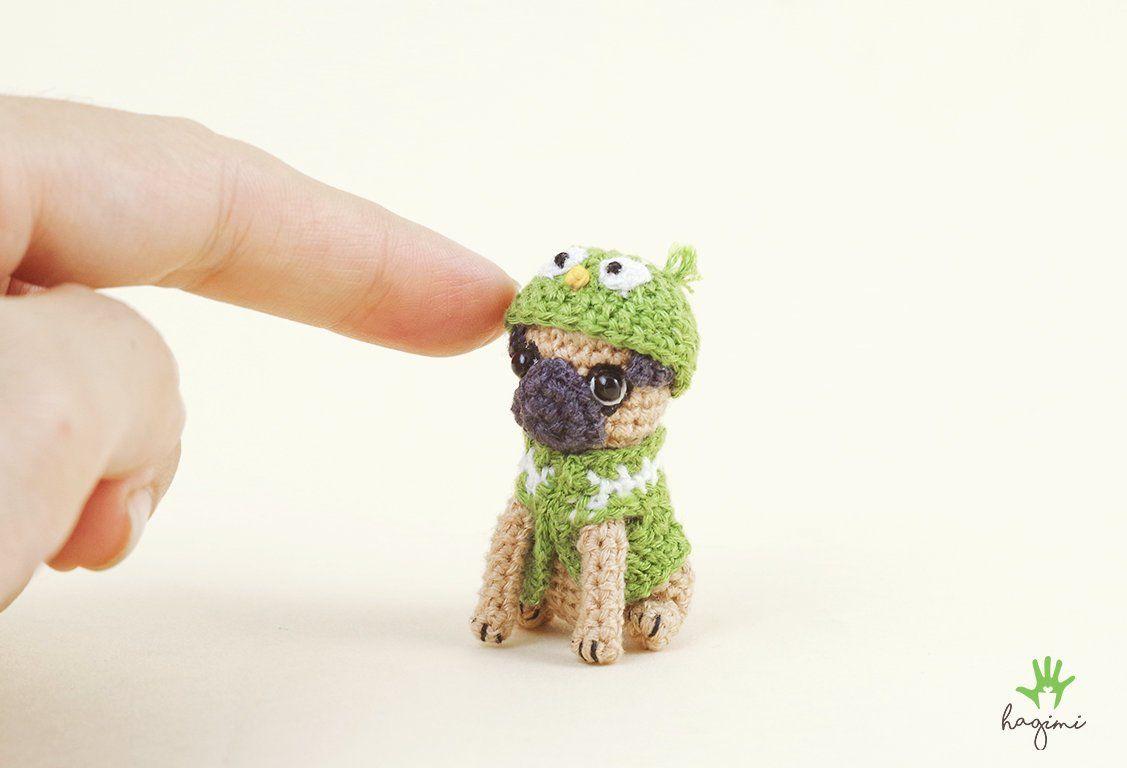 Ley Bells handmade: Amigurumi Mini Pug sitting + bone ( Open PO ) | 768x1127