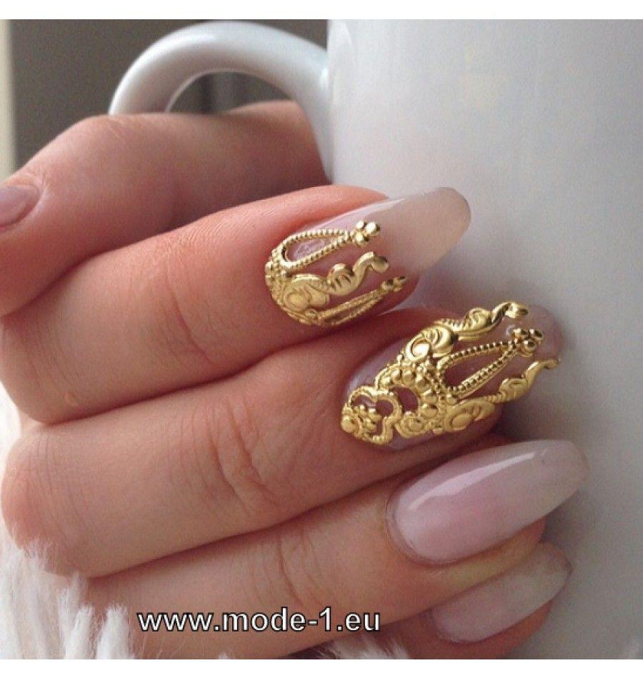 3D Nagel Schmuck in Gold & Silber | Beauty - Schönheitspflege ...