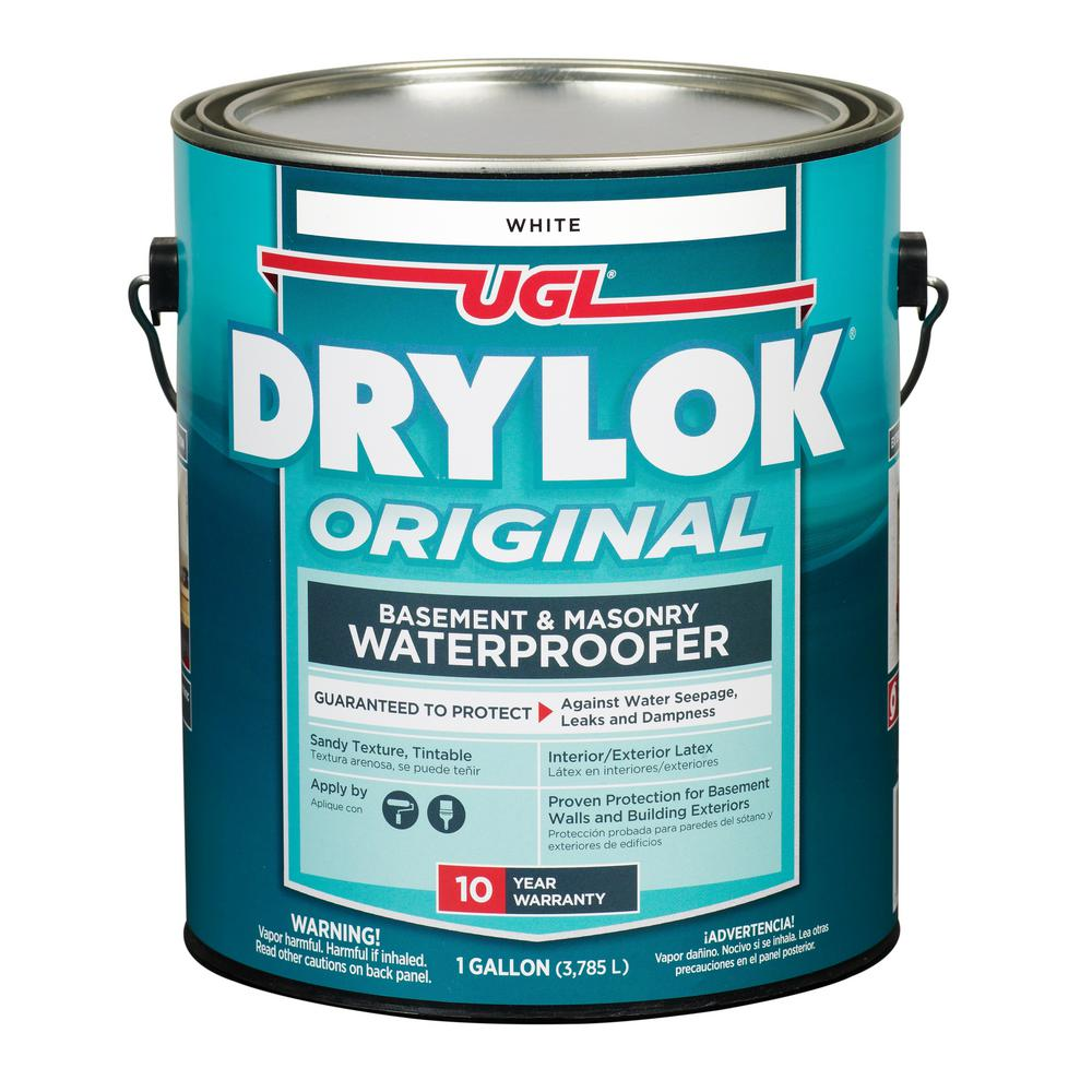 Drylok 1 Gal White Masonry Waterproofer 27513 The Home Depot Waterproofers Basement Waterproofing Paint Masonry