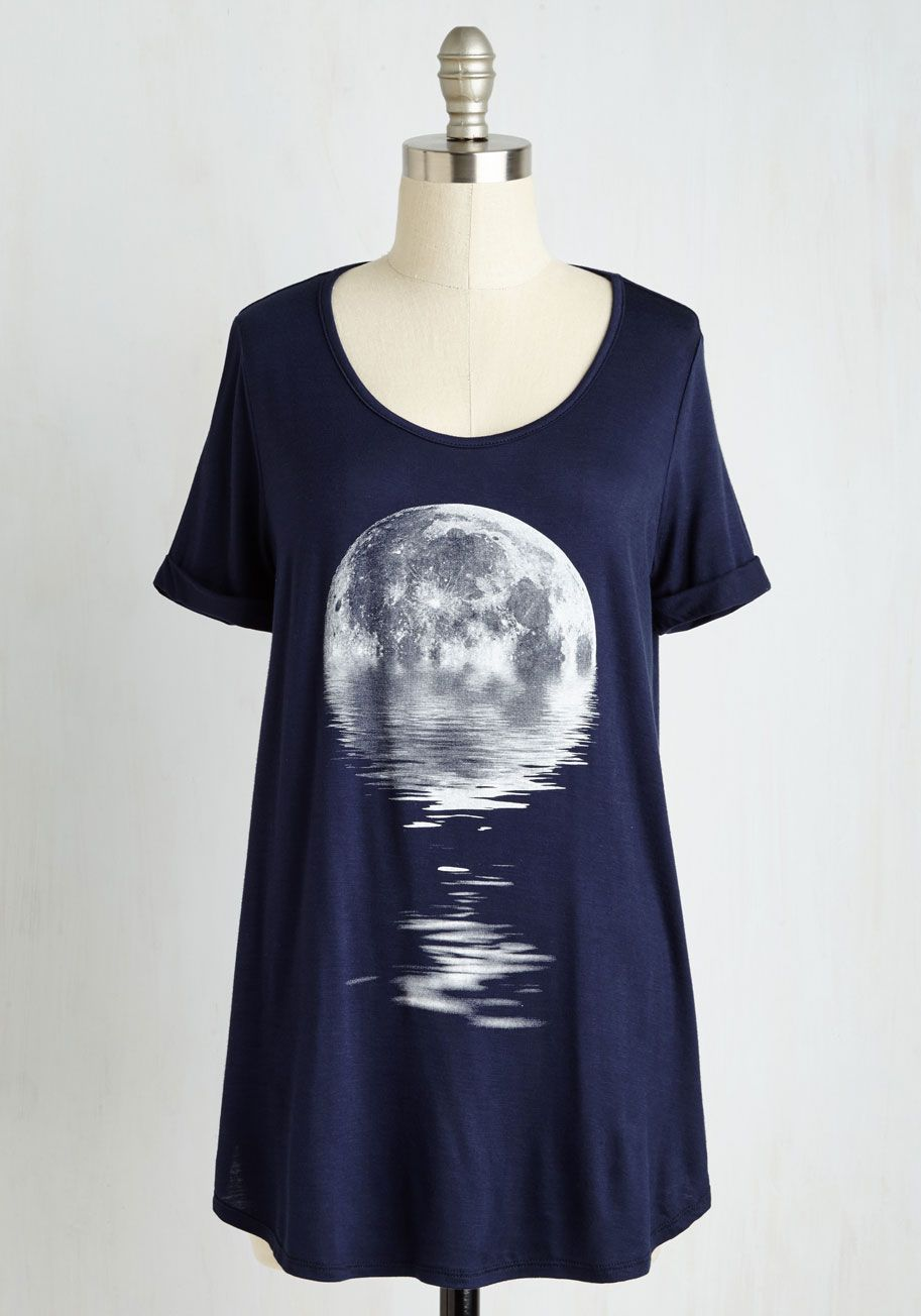 6ee01f6e41ca Step in the Right Reflection Top. If this midnight blue tee is any sign of  your creative process - shooting for the sky but stopping to self-assess  along ...