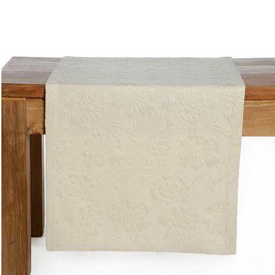 Tischläufer Jacquard creme ca 40 x 150 cm