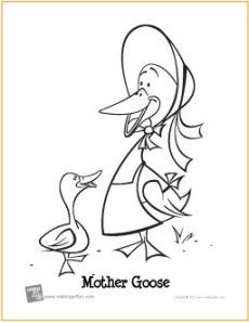 Mother Goose חיפוש ב Google Animal Coloring Pages Coloring