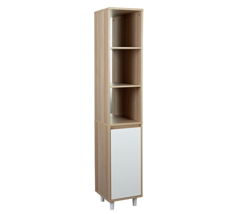 Buy Collection Caleb 1 Door Tall Cabinet - Two Tone ...