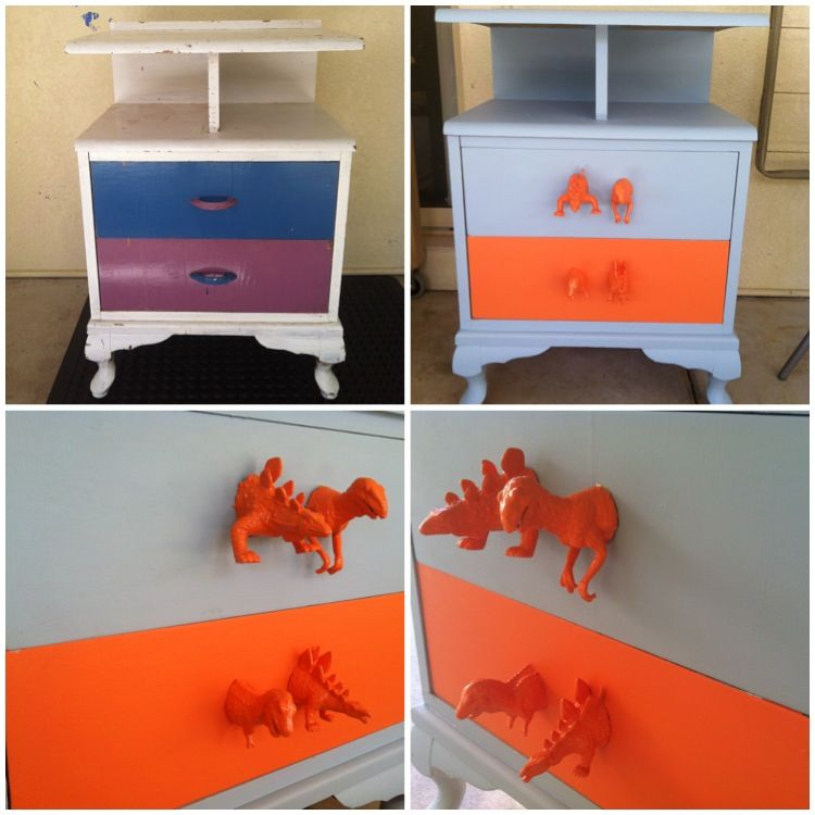 kids bedside table diy makeover | lilah sky | pinterest | furniture