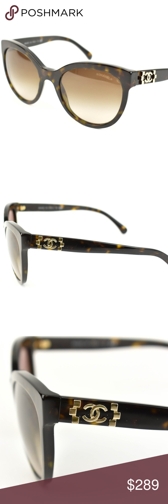 Chanel Tortoise Brown Cc Logo Sunglasses Ah Please Remember That All Glasses Must Be Adjusted And Or Tighten Sunglasses Logo Brown Sunglasses Sunglasses