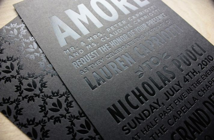 Black Foil on Black Paper | printing finishes & embellishment ...