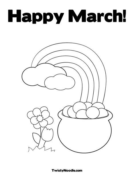 Happy March Coloring Page Preschool Coloring Pages Spring Coloring Pages Happy March