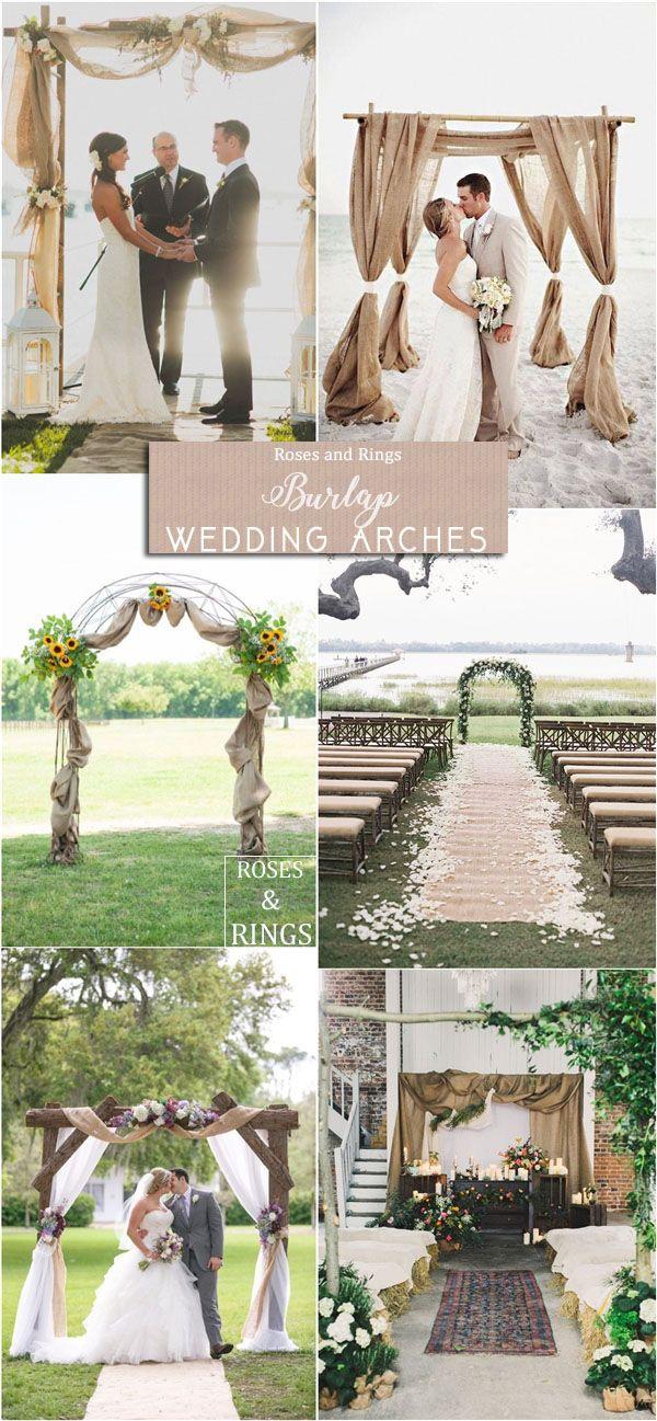 36 Amazing Rustic Country Burlap Wedding Decor Ideas Burlap Wedding Arch Burlap Wedding Decorations Wedding Arch