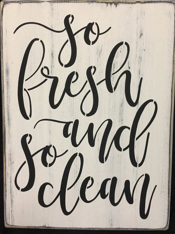 So Fresh And So Clean Bathroom Signs Shower Bath Hot By Djantle - Clean bathroom signs