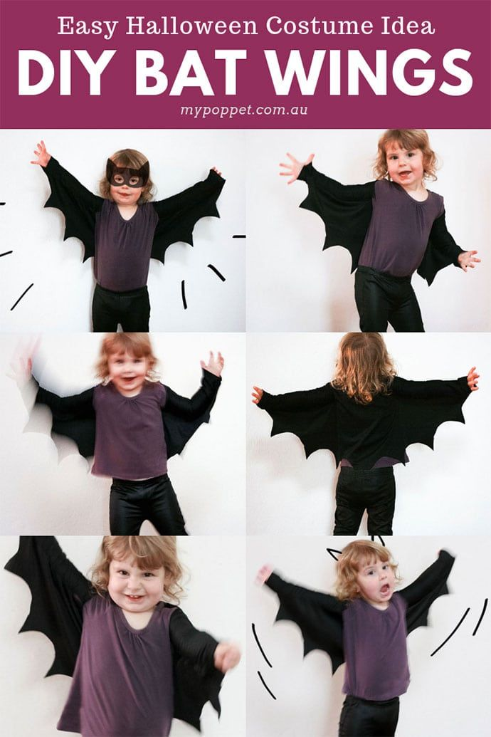 How to make Bat Wings for Halloween Costumes   My
