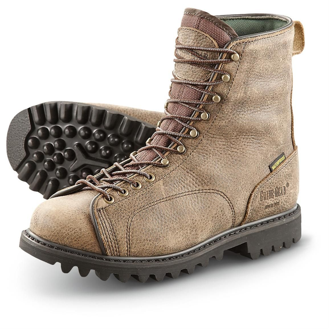 mens toe lace hunting boot pics | Men's Guide Gear® Waterproof 400 ...