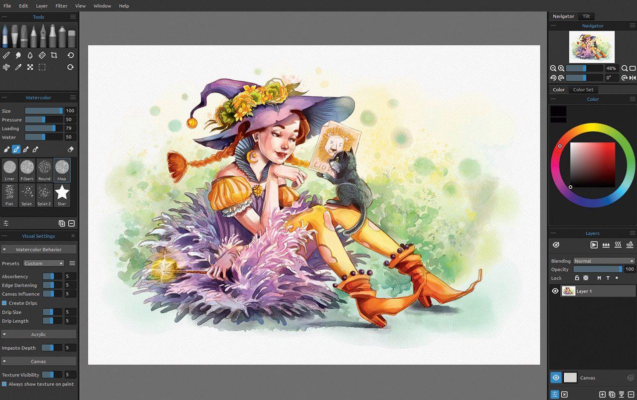 Rebelle 3 review Digital art software, Paint app