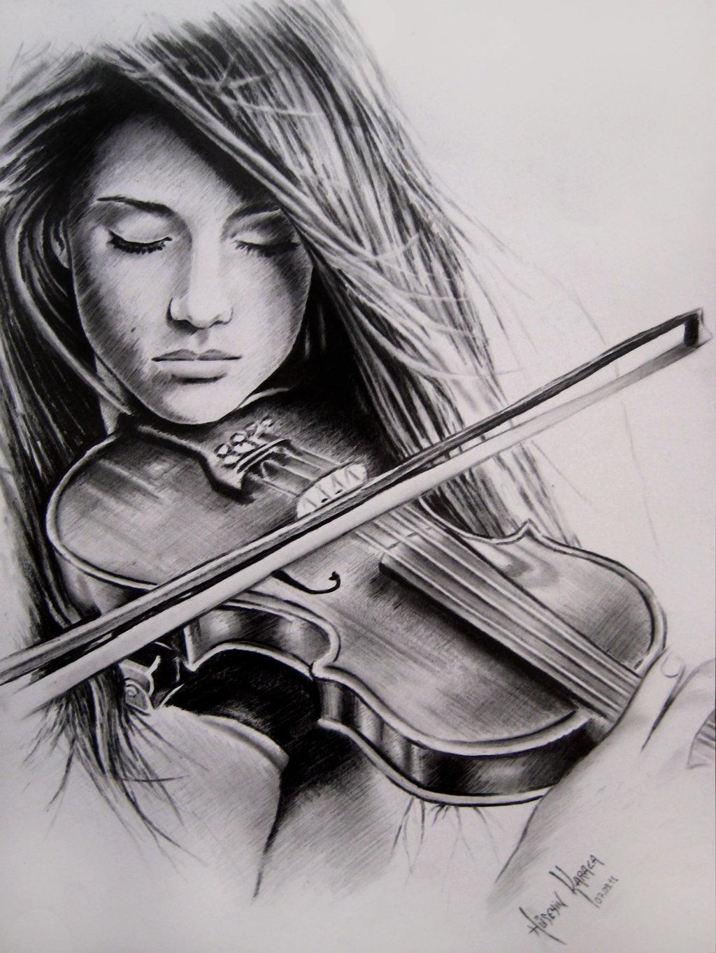 Girl playing violin sketch google search