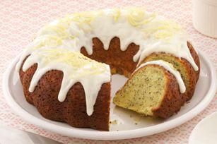 Double-Lemon Poppy Seed Cake recipe-----Use the lemon cream cheese glaze from this on the lemon pound cake for Easter