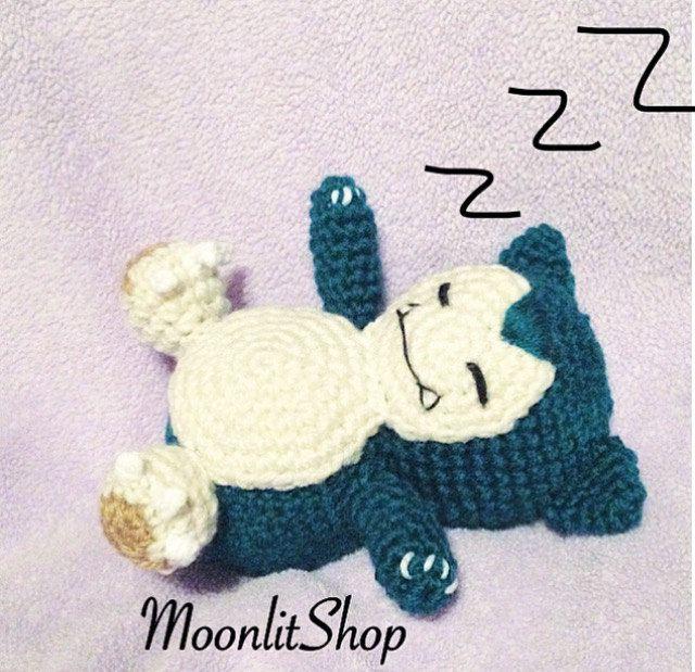 Pokemon Inspired Crochet Snorlax Amigurumi Doll English PDF Pattern