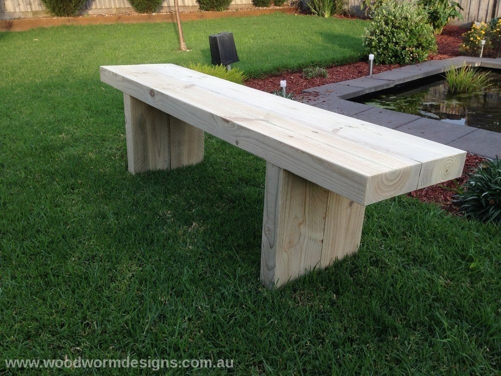 Timber Wooden Outdoor Garden Bench Seat Table Bench Custom Made Wide Outdoor Garden Bench Garden Bench Seating Outdoor Garden