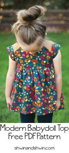 Oberteil / Kleidchen nähen   Nähen   Pinterest   Kleid nähen ...