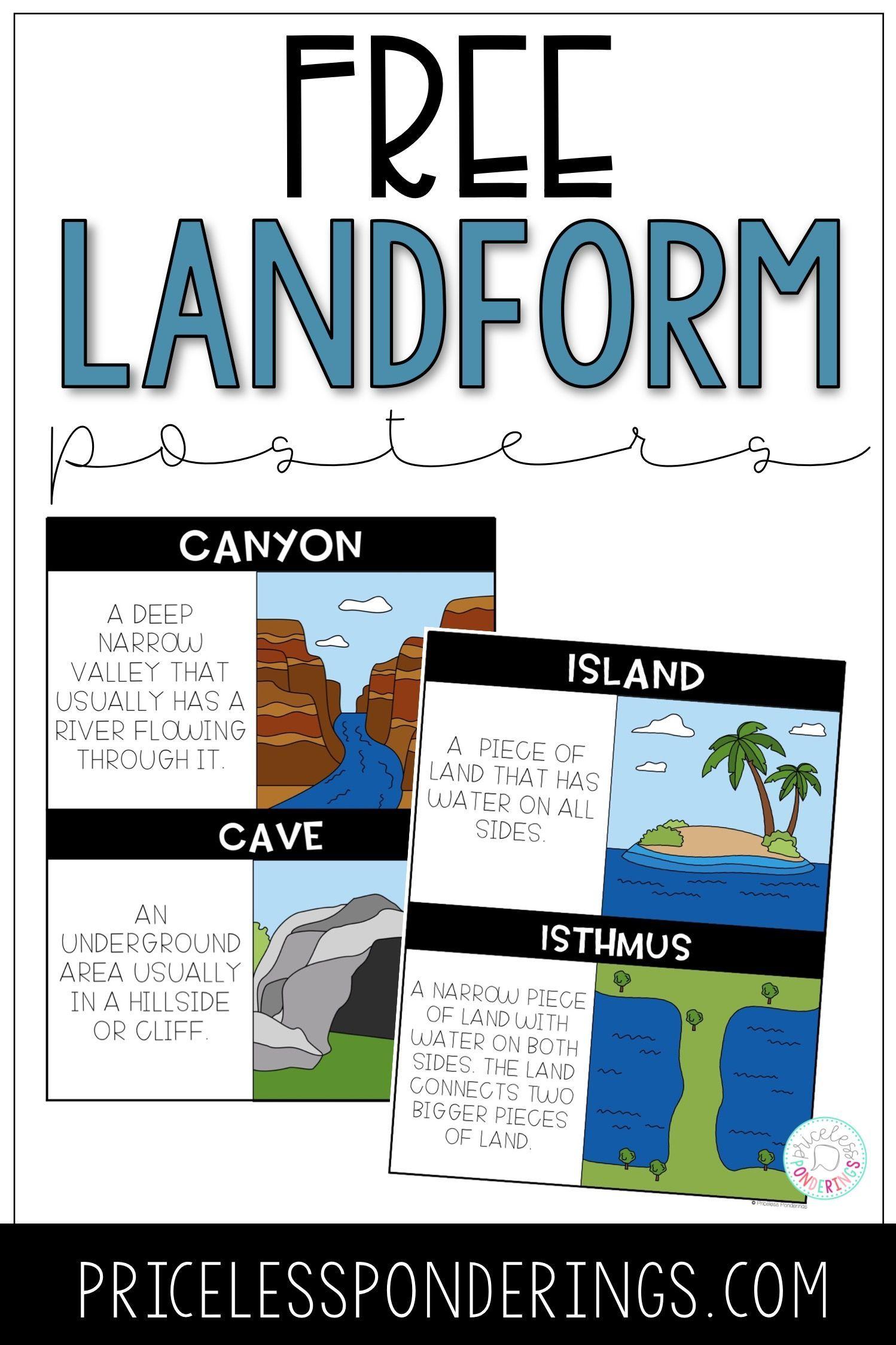 Landform Task Cards With Images