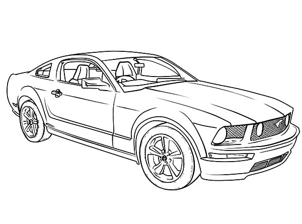 Mustang Camaro Cars Coloring Pages Best Place To Color Cars Coloring Pages Camaro Car Mustang Drawing