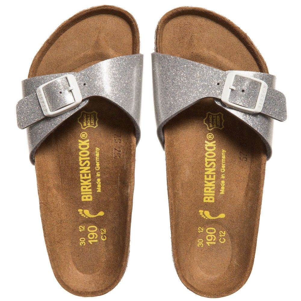 103404ea3133 BIRKENSTOCK Girls Silver Glitter  Madrid  Sandals