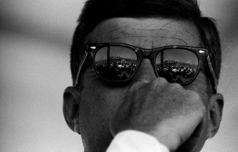 JFK wearing RayBan Wayfarer