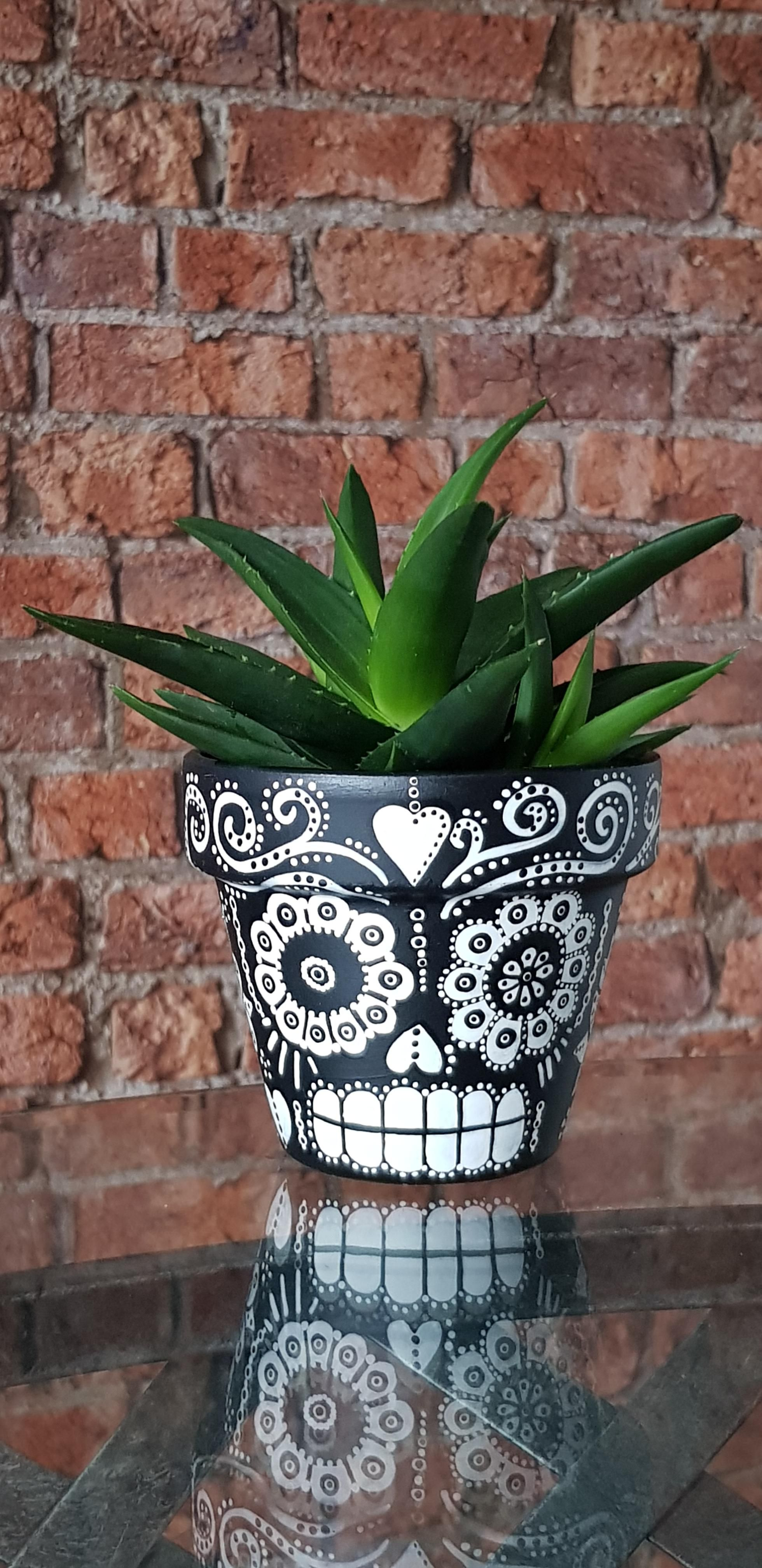 Home Of Creatives Painted Plant Pots Painted Flower Pots Sugar Skull Painting
