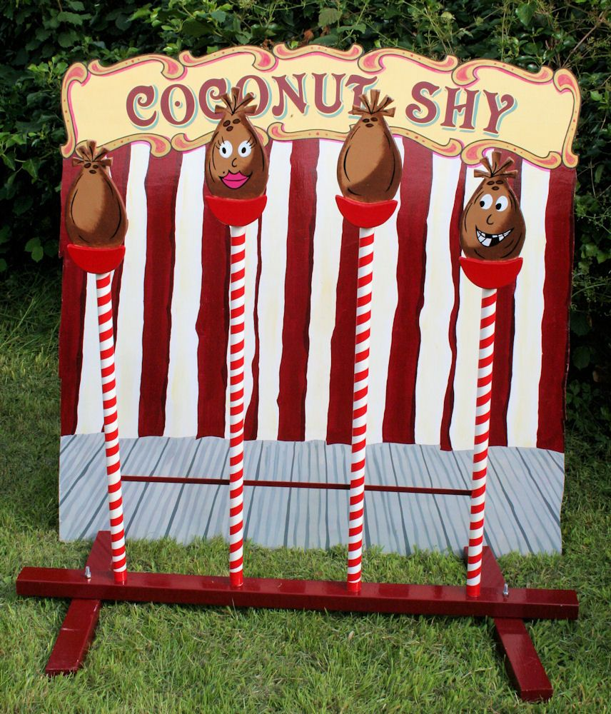 Wedding Ideas With A Difference: A Coconut Shy With A Difference...who Could Knock Those