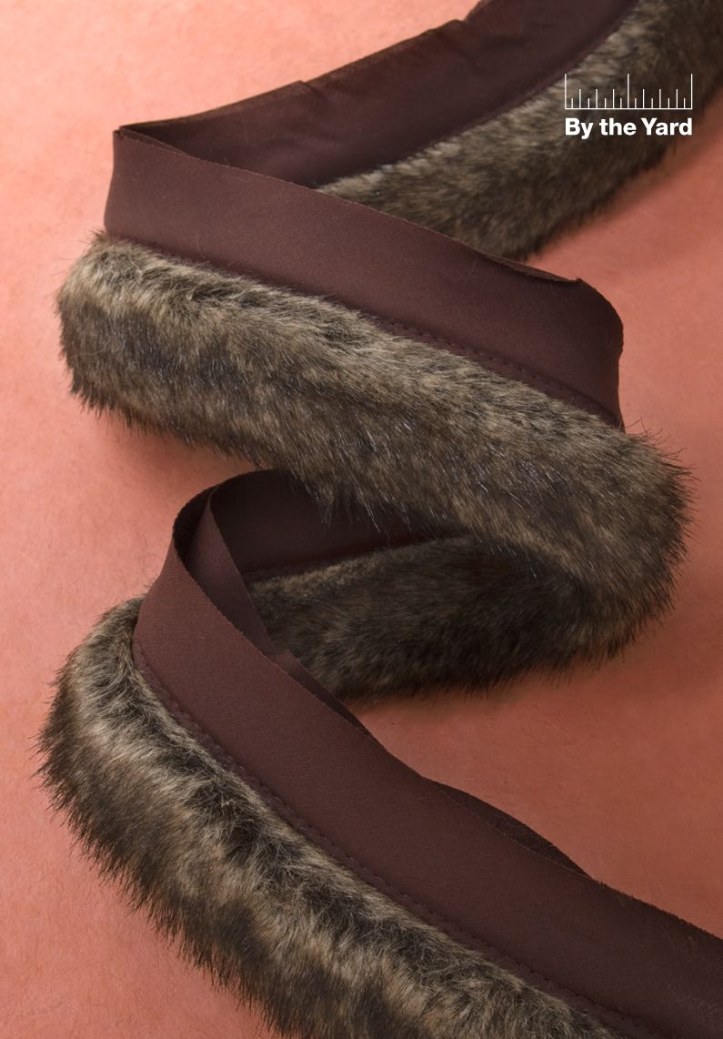 """Simplicity Creative Group - 2"""" Mink Faux Fur with Lip"""