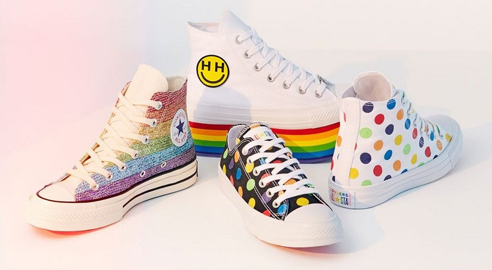 e1c5ef55aa6e Complete any look or dress up your outfit with these Pride shoes available  in a variety of styles