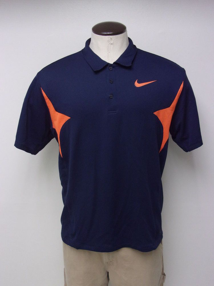 ebf8bb390914 Men s Nike Golf FIT DRY sz Large Navy Blue   Orange SS Polo Shirt FREE  SHIPPING  fashion  clothing  shoes  accessories  mensclothing  shirts  ad  (ebay link)