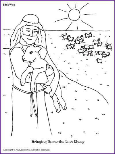 Coloring Bringing Home The Lost Sheep Kids Korner Sunday School Coloring Pages Bible Crafts The Lost Sheep