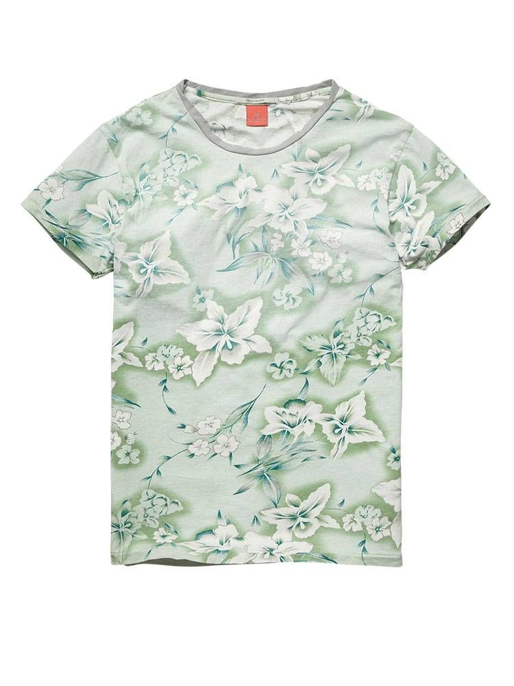All-over printed crew neck tee - T-shirts - Official Scotch & Soda Online Fashion & Apparel Shops
