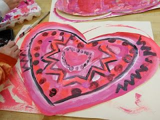 PAINTED PAPER: Picasso's Rose Period Hearts... love, love, love