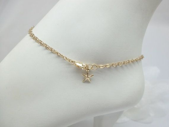 anklet rose pin ankle chain bracelet anklets gold filled