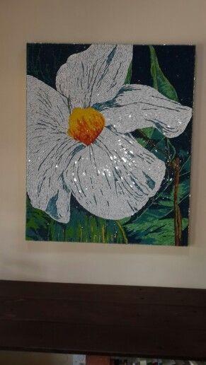 Mosaic art - flower in bloom   vitrales   Pinterest   Mosaicos ...