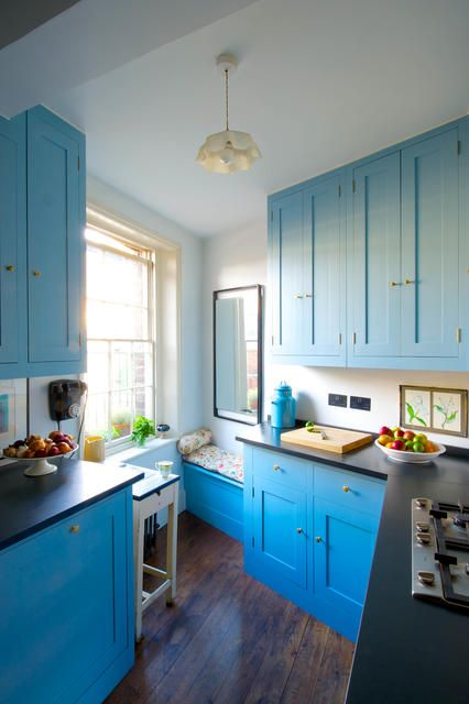 Blaue Küche Im Landhausstil