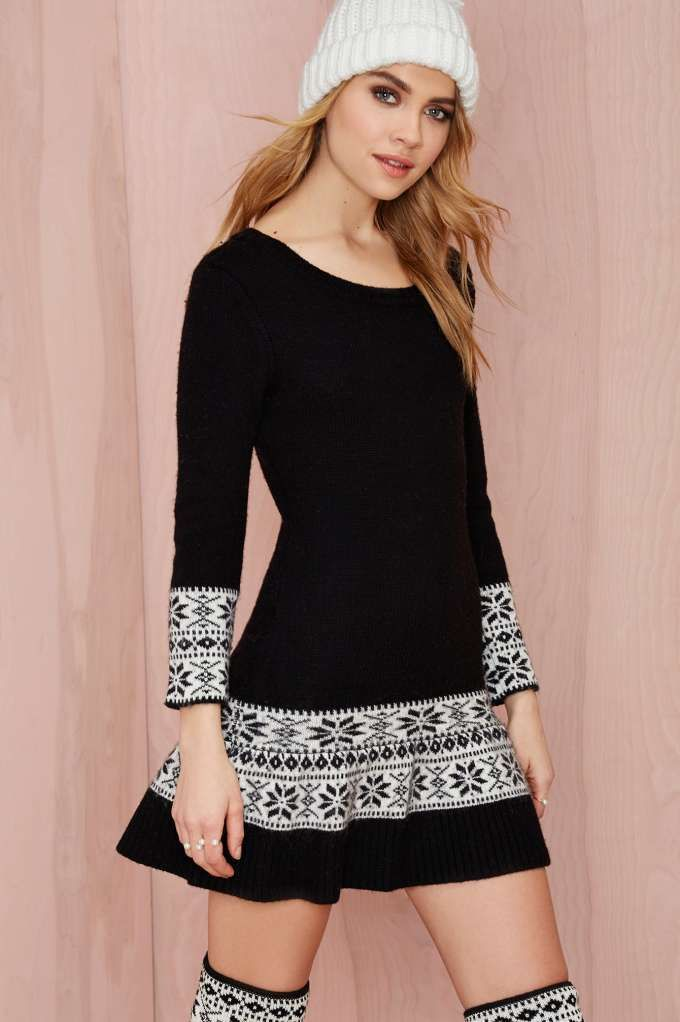 Knitz+Ice+Skate+Mini+Dress+|+Shop+Clothes+at+Nasty+Gal
