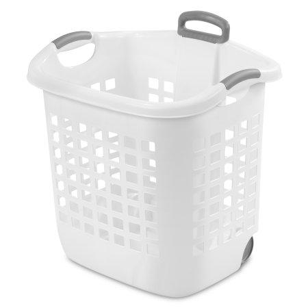 Sterilite 1 75 Bushel 62 L Ultraa Wheeled Laundry Basket White