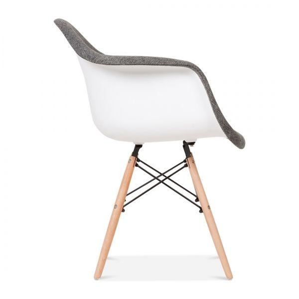 Charles E Eames Style Gepolsterter Grauer DAW Stil Stuhl   Charles E Von  Cult Furniture UK
