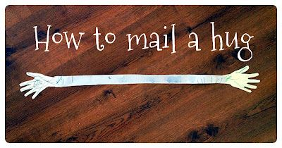 How to mail a hug!  (+ bonus math lesson)  Just in time for Grandparent's Day!