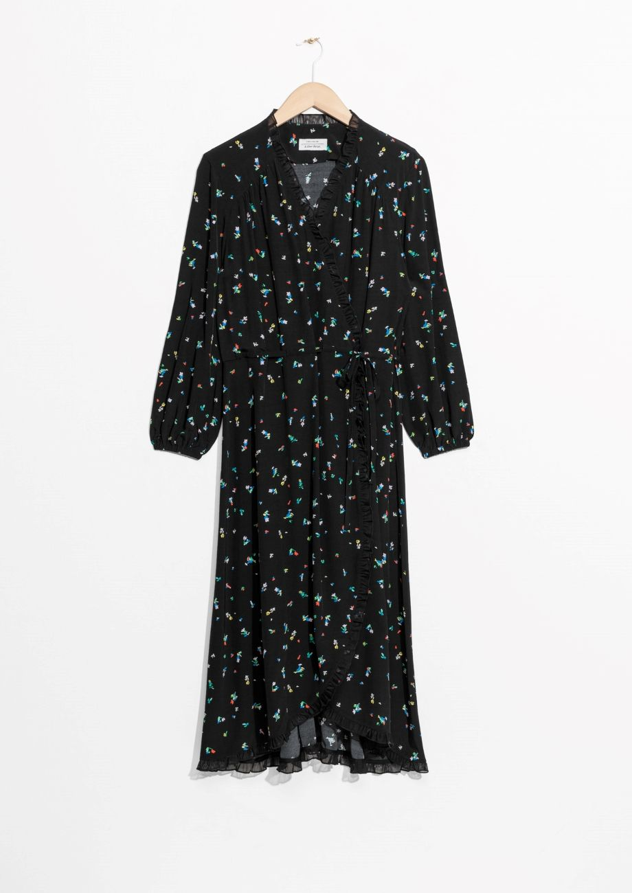 Other Stories Andotherstories Floral Dress Ruffle Wrap Dress Long Wrap Dress Wrap Dress [ 1300 x 920 Pixel ]