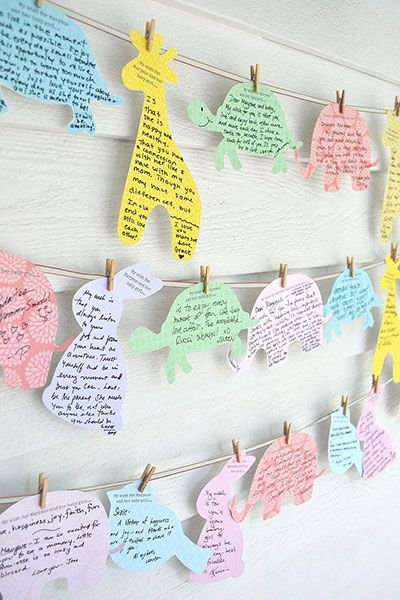 Manualidades Para Baby Shower Con Animalitos En Papel