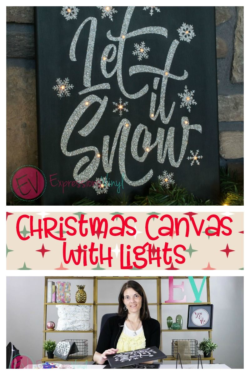 Christmas Canvas with Lights