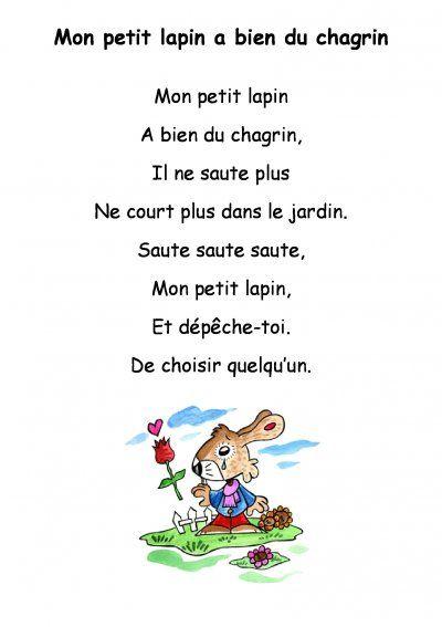 Mon Petit Lapin A Bien Du Chagrin Chants Comptines Montessori