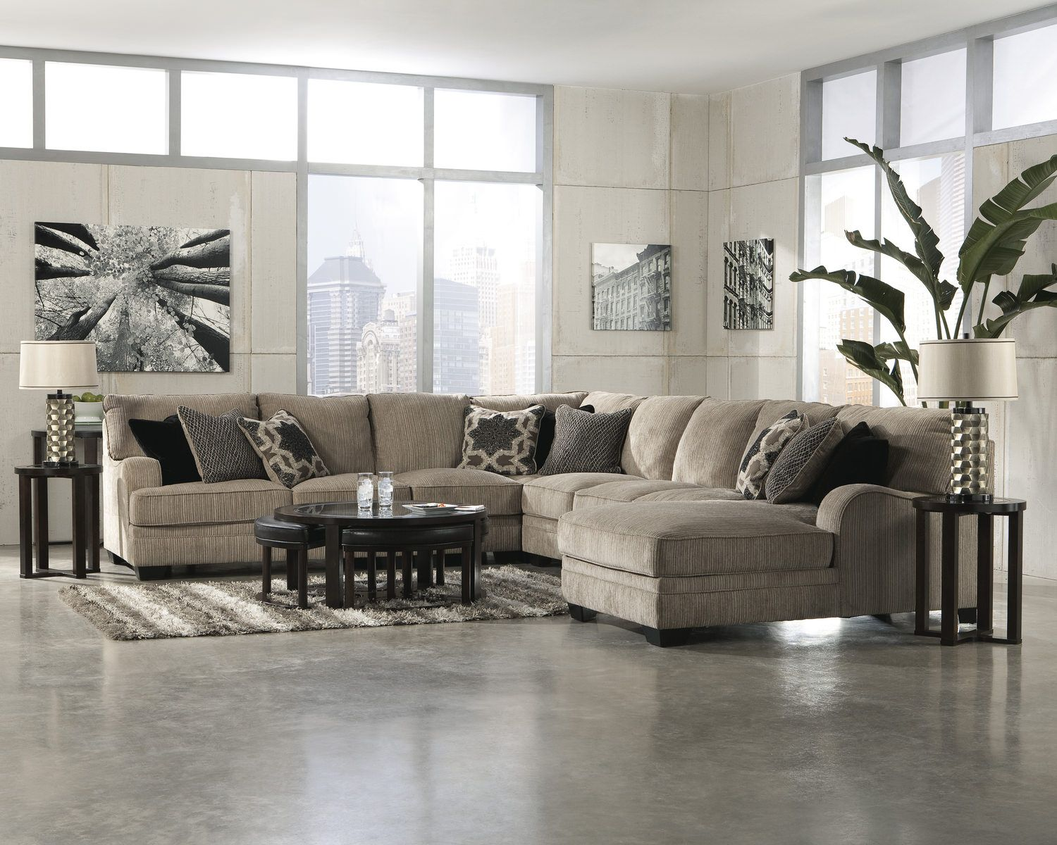 Tisha 5 Piece Sectional | Ashley furniture, Concrete ...