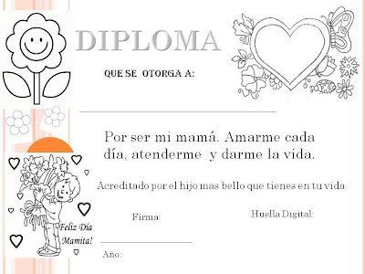 Pin De Lady Vallejos En Imágenes Para Tu Aula Diplomas Para Mamá Tarjetas Del Día De Las Madres Dia De Las Madres