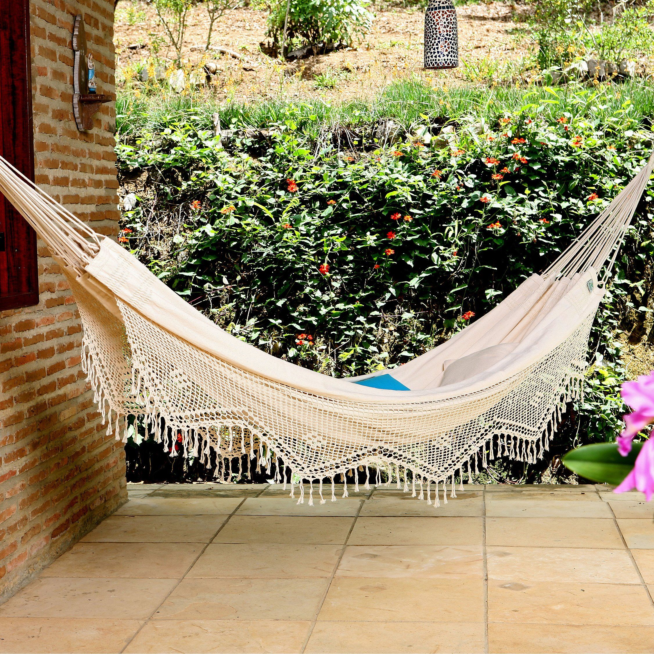 have to have it xl brazilian fabric hammock with fringe 99 99