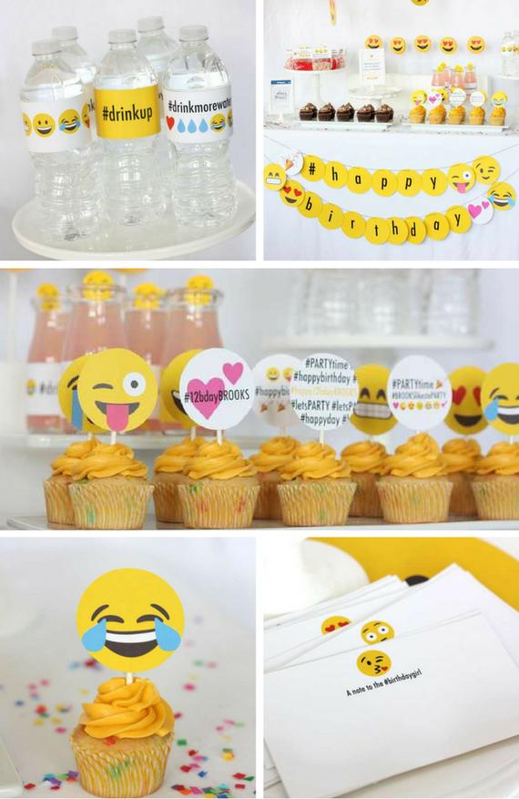 Emoji Party Inspirations Birthday Party Ideas For Kids Emoji Party Invitations Emoji Birthday Party Emoji Party